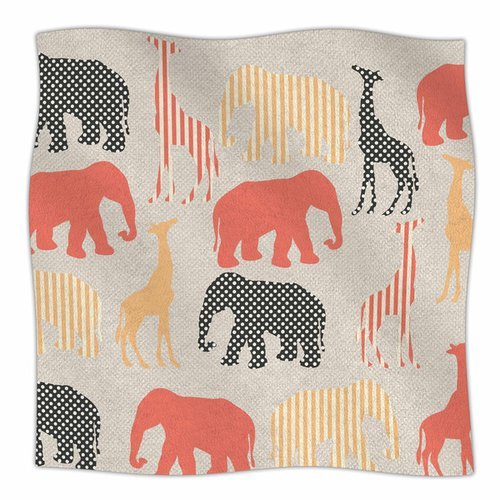 East Urban Home Zoo by Suzanne Carter Fleece Blanket
