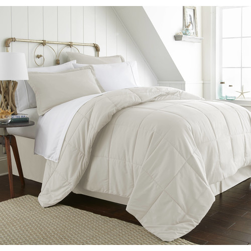 Becky Cameron 8 Piece Resort Style Soft Comfort Bed in a Bag Set - Twin - Ivory