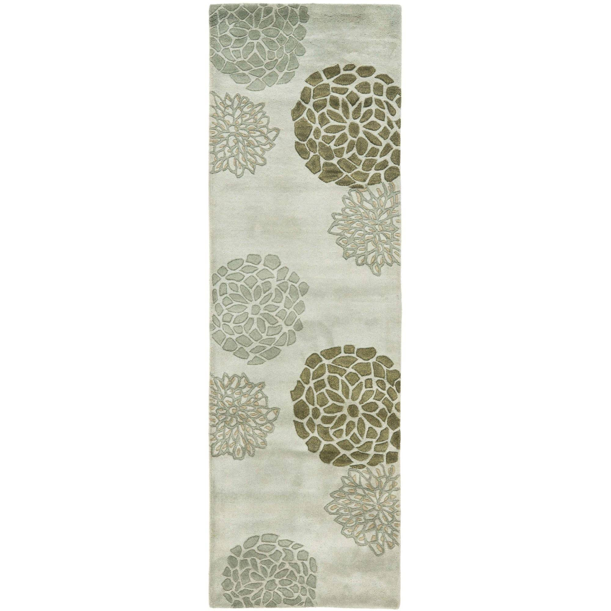 Safavieh Soho Brisbane Wool Runner Rug, Light Grey