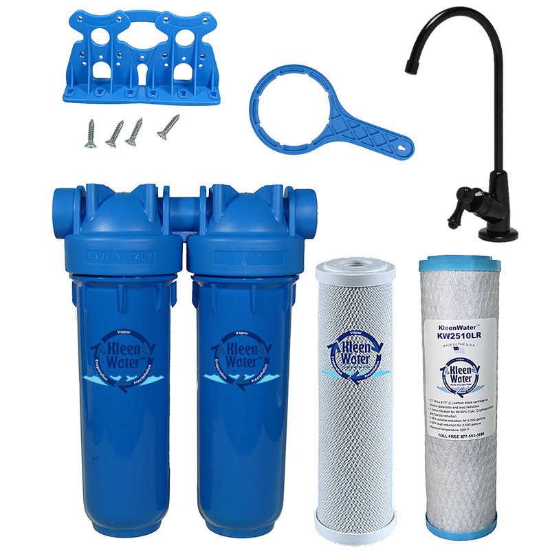 KleenWater KW1000A Under Sink Drinking Water Filter System, Oil Rubbed Bronze Faucet