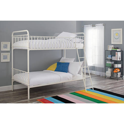 Better Homes and Gardens Kelsey Twin Over Twin Metal Bunk Bed, Multiple Colors by Dorel Home Products