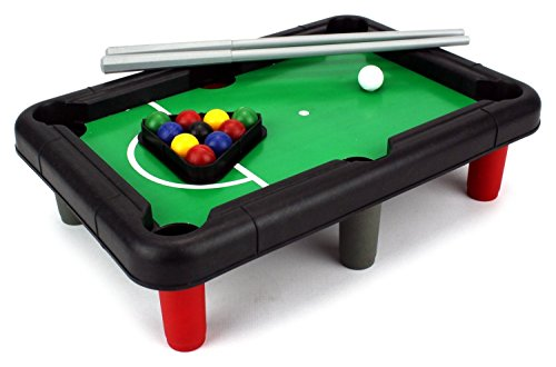 Mini Billiards Novelty Toy Billiard Pool Table Game W/ Table, Full Set Of  Balls, 2 Cues, Triangle   Walmart.com
