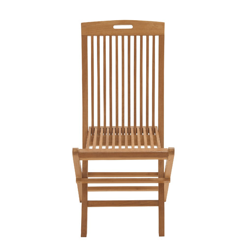 Woodland Imports fortable Wood Teak Folding Chair