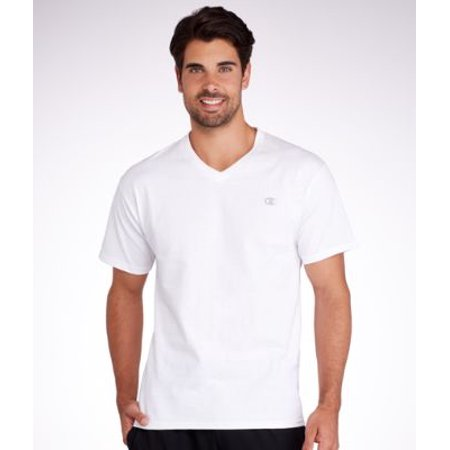 Hanes t4651 champion authentic mens jersey v neck t shirt for Extra tall white t shirts