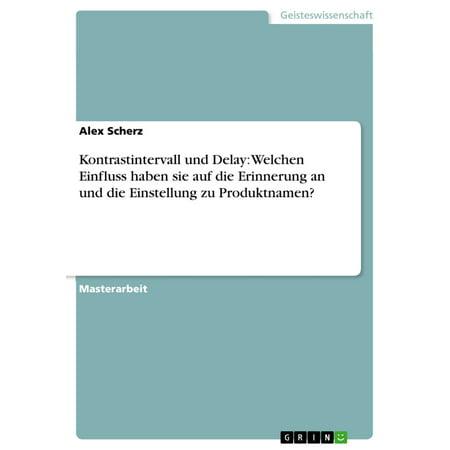 Kontrastintervall und Delay: Welchen Einfluss haben sie auf die Erinnerung an und die Einstellung zu Produktnamen? - eBook (Zu Hause Versuchen Sie, Auf)