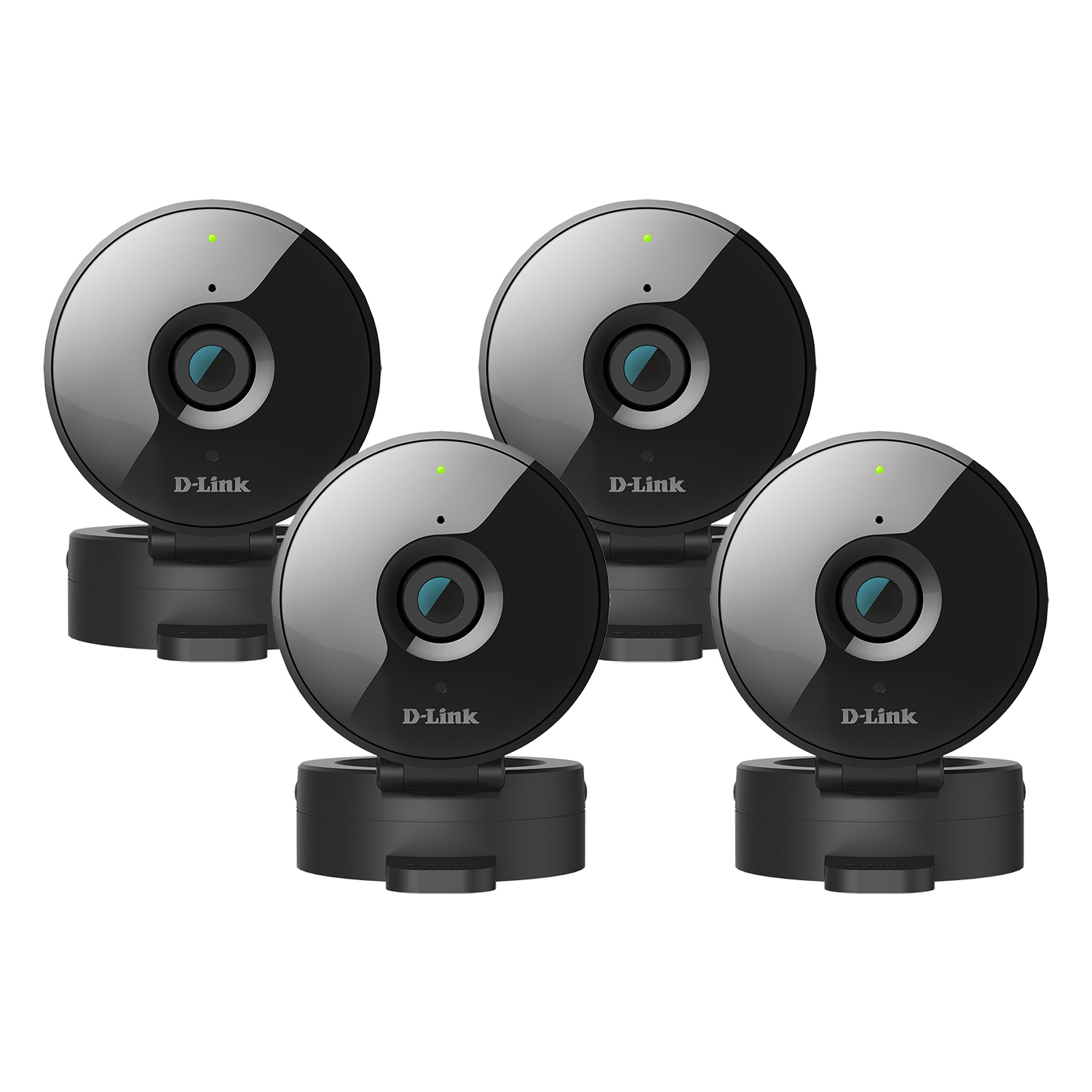 Refurbished 4-Pack D-Link HD WiFi 720P Home Security Camera with Night Vision - DCS-936L, Works with Google Assistant