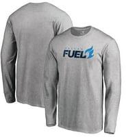 Dallas Fuel Fanatics Branded Team Identity Long Sleeve T-Shirt - Heathered Gray