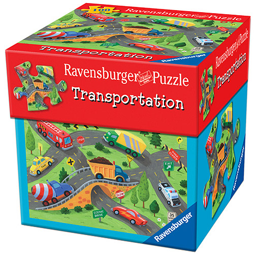 Ravensburger Transportation Puzzle in Gift Box, 100 Pieces
