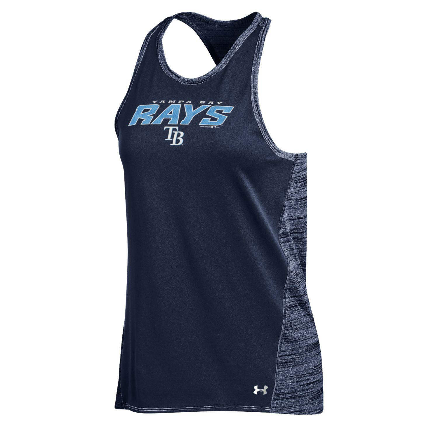 Tampa Bay Rays Under Armour Women's Performance Tank Top Navy by Gear For Sports/Under Armour