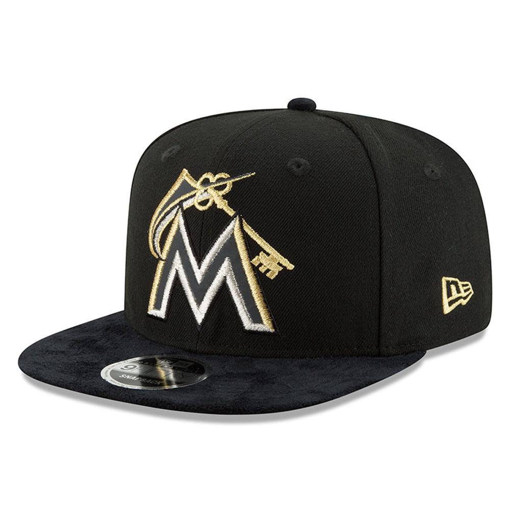 Miami Marlins New Era DJ Khaled Collection Gold 9FIFTY Snapback Hat - Black - OSFA