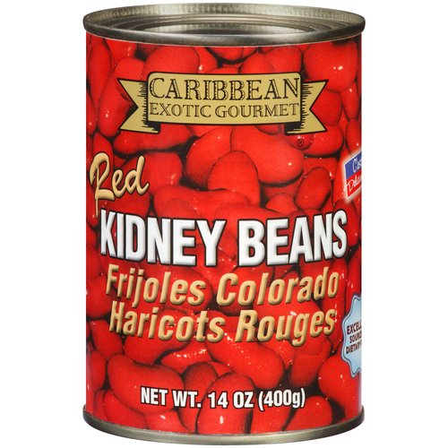 Caribbean Exotic Gourmet Red Kidney Beans, 14 oz