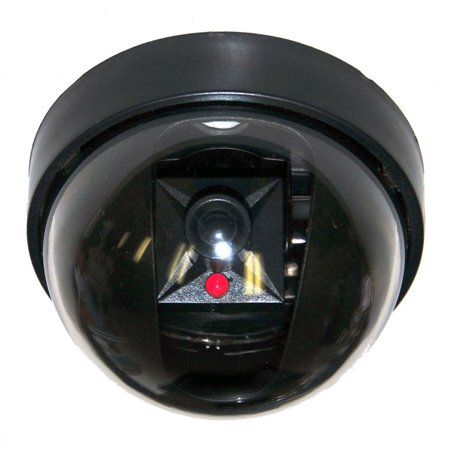 VideoSecu Dummy Fake Dome Security Camera w/ Simulated Flashing Blinking LED Light for CCTV Home Surveillance Indoor 1RG