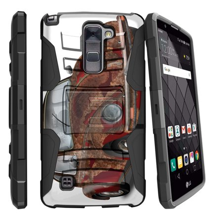 LG Stylus 2 Plus K530, LG Stylo 2 Plus Miniturtle® Clip Armor Dual Layer Case Rugged Exterior with Built in Kickstand + Holster - Old Beetle