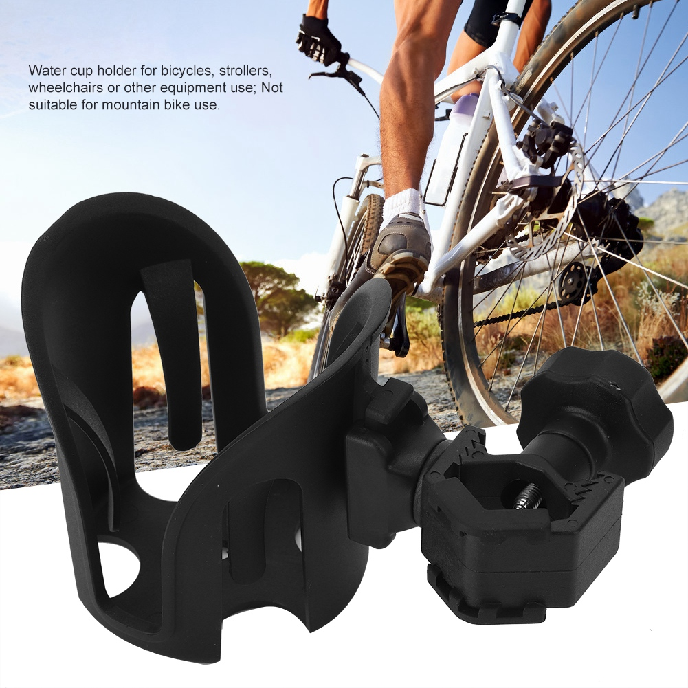 Adjustable Wheelchair Bike Bicycles Stroller Rollator Drink Cup Holder Plastic