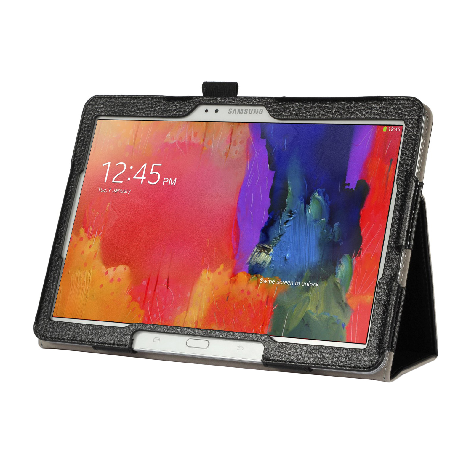 "Black Double-Fold Folio Case for Samsung Galaxy Tab Pro 10.1"" Tablet"
