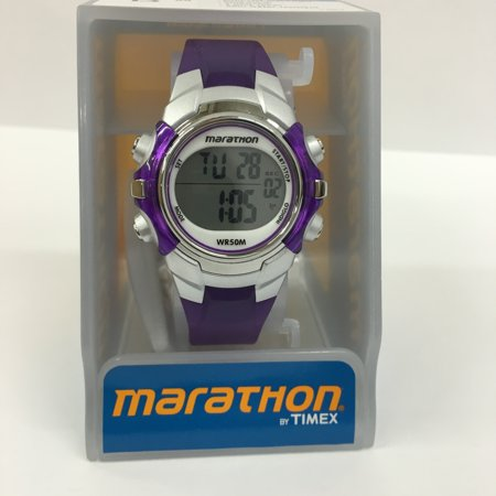 Marathon Digital Mid-Size Purple/Silver-Tone Watch, Resin Strap