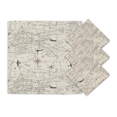 Brite Ideas Living Air Traffic Napkin (Set of 4)