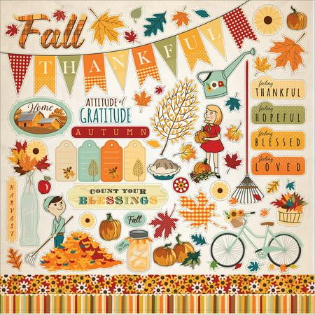 Autumn Cardstock Stickers 12