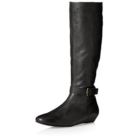 Ciao Bella Women's Leslie Tall Boot, Black Tumbled Burnished, 8.5 M US