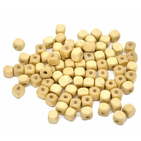 180 Square Cube Wood Spacer, Loose Beads, 10mm Natural Color Coated