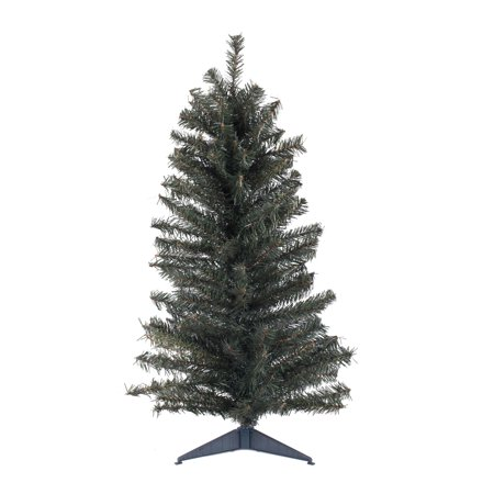 """Vickerman Artificial Christmas Tree 36"""" Canadian Pine 146 Tips Plastic Stand"""