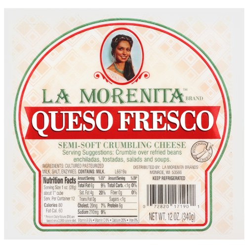 La Morenita Queso Fresco Semi-Soft Crumbling Cheese, 12 oz