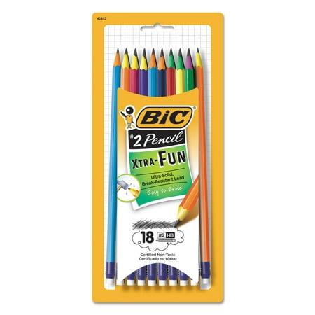 BIC Xtra-Fun Graphite Pencil, 2 HB, 18-Count
