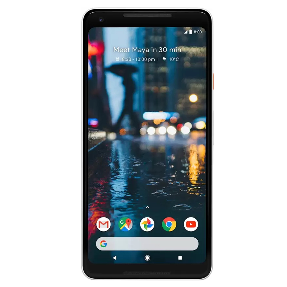 "New Google Pixel 2 XL 64GB G011C GSM + CDMA Factory Unlocked 4G LTE 6""  P-OLED Display 4GB RAM 12.2MP Camera Phone - Black and White (Panda) - USA Version"