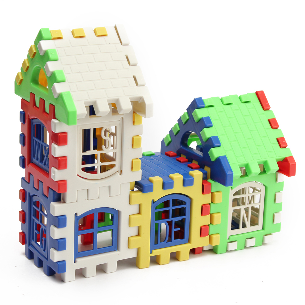24Pcs Baby Kid Children House Building Blocks Enlighten Construction Developmental Toy Baby Block Set