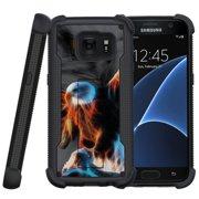 Samsung Galaxy S7 Case   Galaxy S7 Phone Case [ShockWave Armor] Dual Layer High Impact Case w/ Kickstand - Blazing Eagle