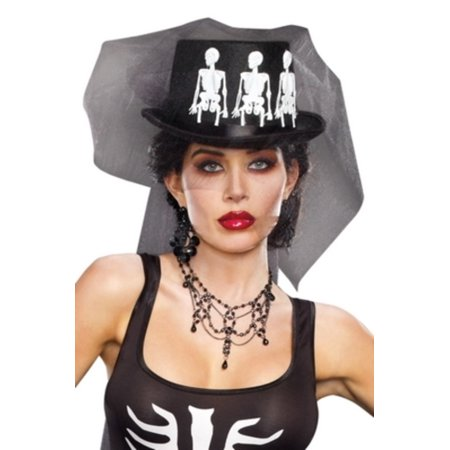 Ms Bones Hat Adult Costume Accessory - Cheap Costumes Nz