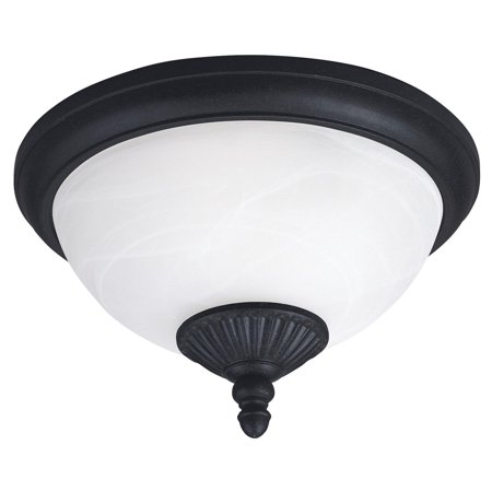 Sea Gull Yorktown Ceiling Light   7 5H In  Forged Iron