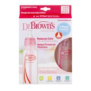 Dr. Brown's Original Baby Bottles, 8 Ounce, Pink, 3 Count