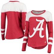 Women's Russell Athletic Heathered Crimson Alabama Crimson Tide Yoke Tunic Long Sleeve T-Shirt