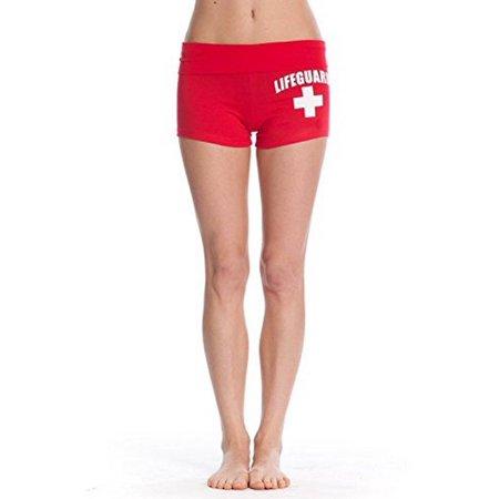 Official Lifeguard Girls Fold-Over Yoga Shorts