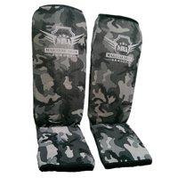 Martial Arts Armory Shin Guards MMA Karate Kickboxing Muay Thai Training - Camo