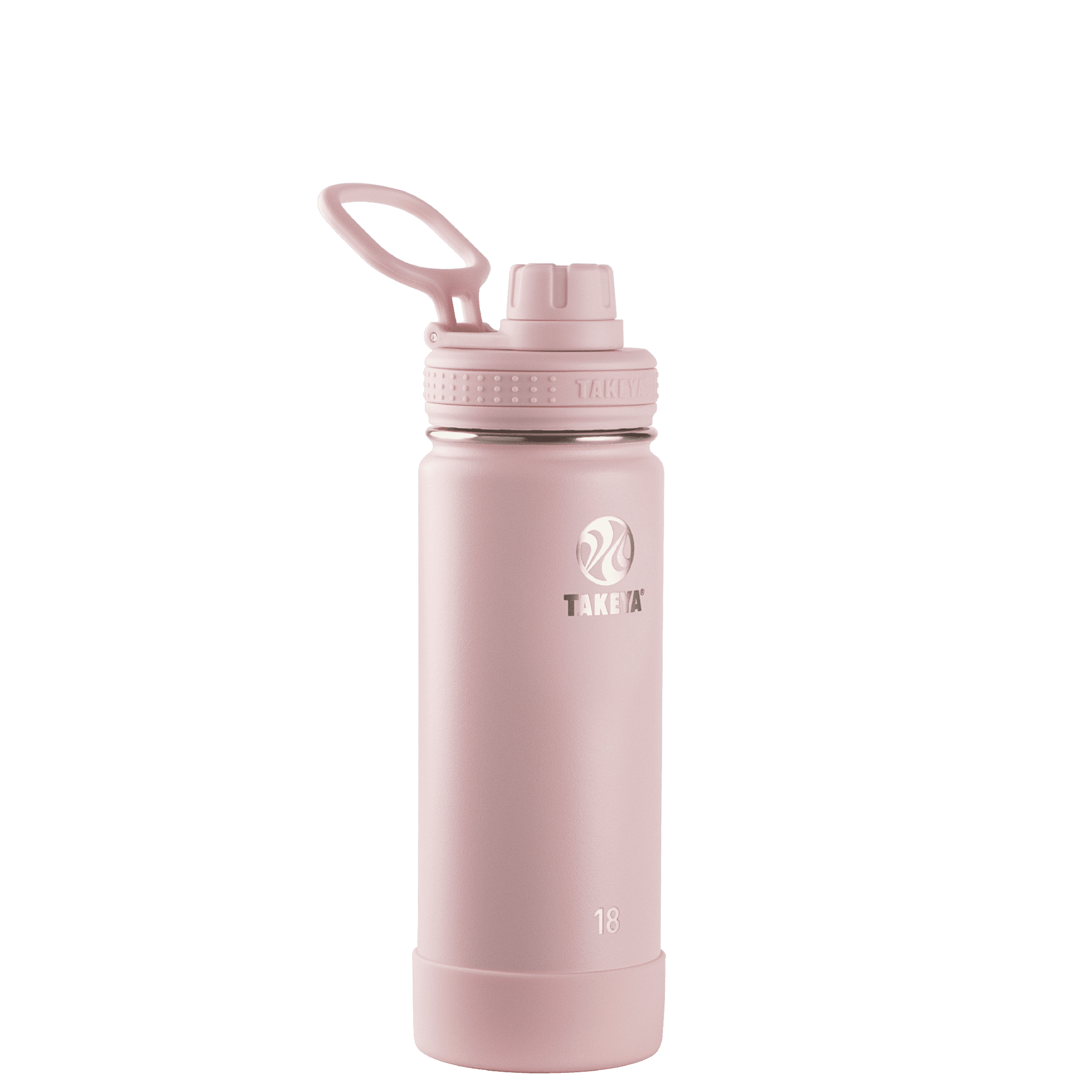 Takeya Actives Stainless Steel Water Bottle w/Spout lid, 18oz Blush