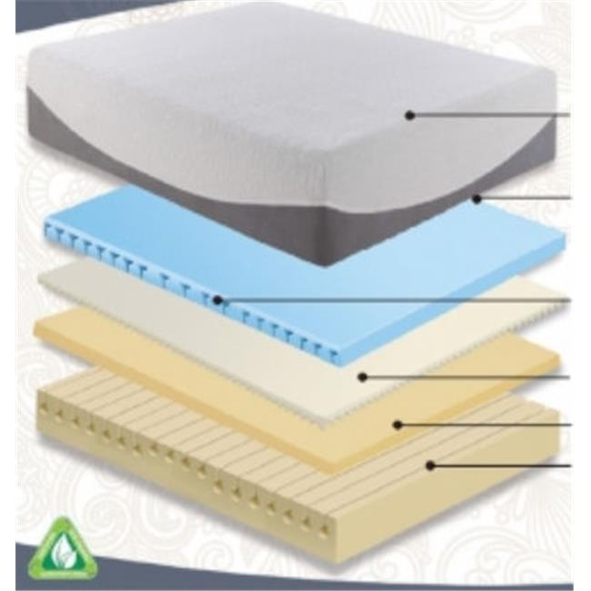 Rest Rite IMGEL412QN Gel Lux 4200 - 12 inch Memory Foam Mattress - Queen