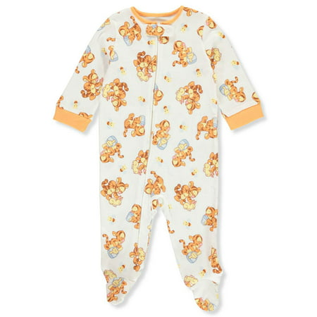 Disney Winnie the Pooh Baby Boys' Footed Coverall Classic Pooh Classic Onesie