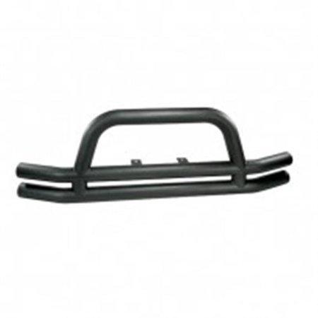 115610.01 3-Inch Double Tube Front Bumper, Black, 76-06 Jeep CJ And Wrangler Bumper Black Jeep Wrangler