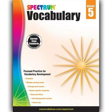Carson Dellosa CD-704612BN 2 Each Spectrum Vocabulary Workbook - Grade 5 - image 1 of 1