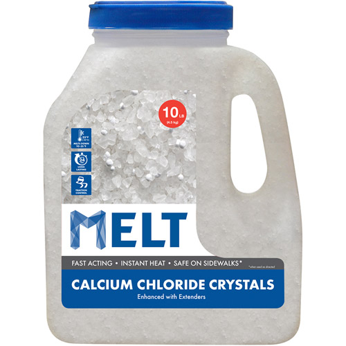 Snow Joe MELT 10 lb Jug Calcium Chloride Crystals Ice Melter, MELT10CC-J