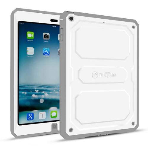Fintie Dual Layer Full Protective Case Built-in Screen Protector Impact Resistant Cover for iPad mini 3/2/1, White