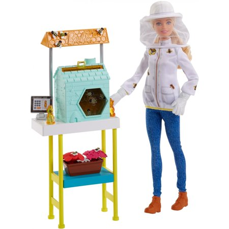 Barbie Careers Beekeeper Doll and Beehive Playset, Blonde Hair