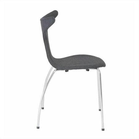 Eurostyle Frida  Dining Chair in Dark Gray Fabric - image 3 of 6