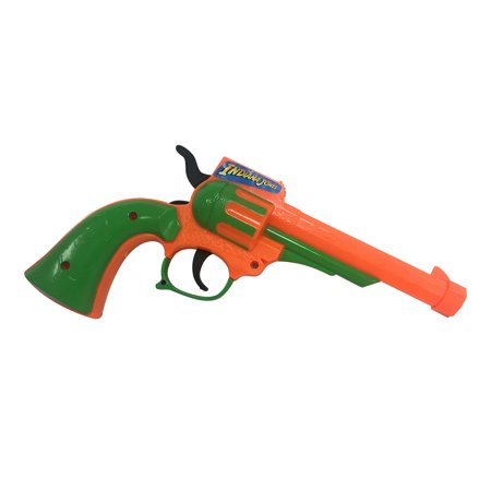 - Indiana Jones Plastic Toy Gun Orange and Green Movie Costume Prop Gift Official