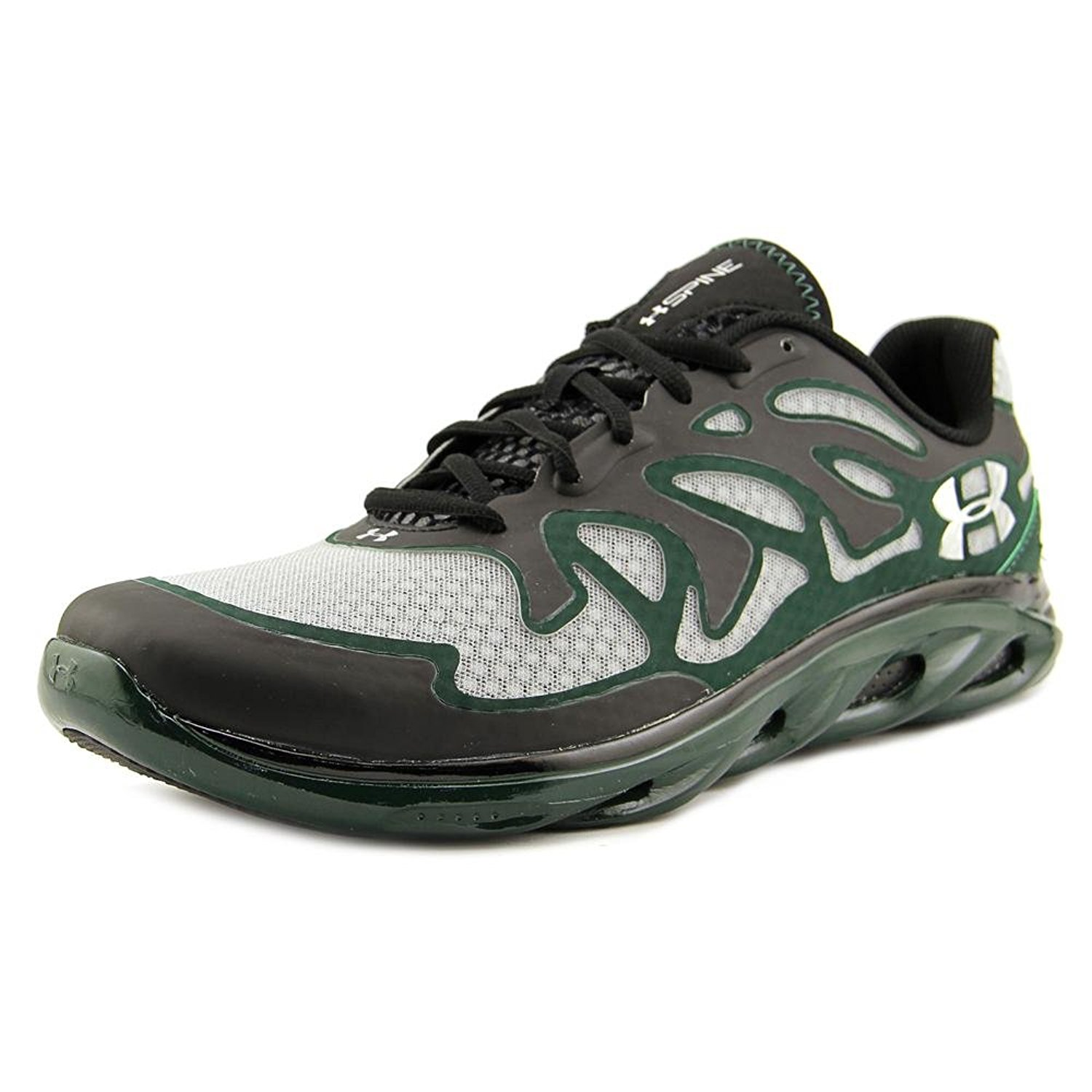 Mens Under Armour Team Spine Evo Training Shoe, 8.5 D US, Green/Black/Metallic Silver