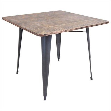 Oregon Dining Table Wood/Gray - LumiSource