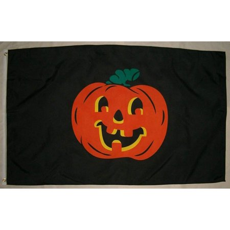 Halloween Usa Flag (Halloween Pumpkin 3'x5' Polyester Flag, Large 3 foot by 5 foot By)