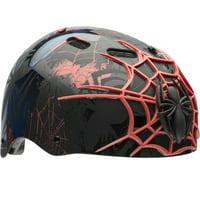 Marvel Spider-Man 3D Web Slinger Multisport Bell Helmet, Black, Child 5+ (51-54cm)